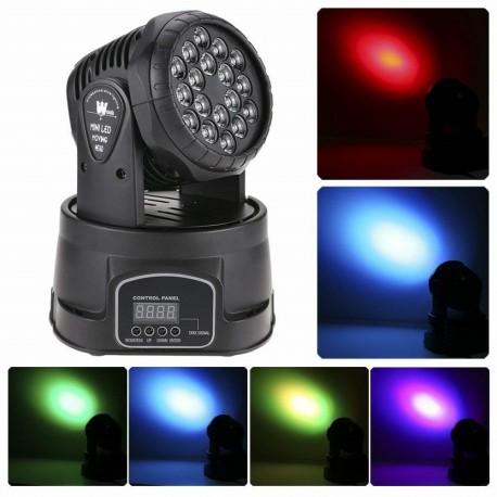 Profesionalus šviesos efektas 18 LED | Judanti galva