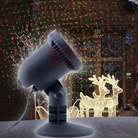 Lazerinis lauko projektorius E03   Kalėdinis lauko lazeris